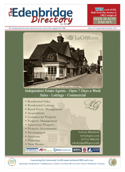 The Edenbridge Directory – Issue 72 – Sep/Oct 2014