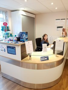 Stangrove Court Dental Practice Reception