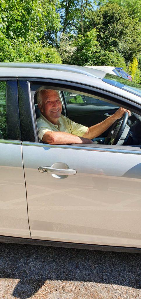 Volunteer driver Keith